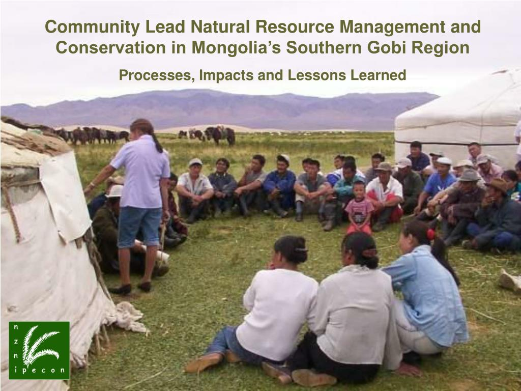 Community Lead Natural Resource Management and Conservation in Mongolia's Southern Gobi Region