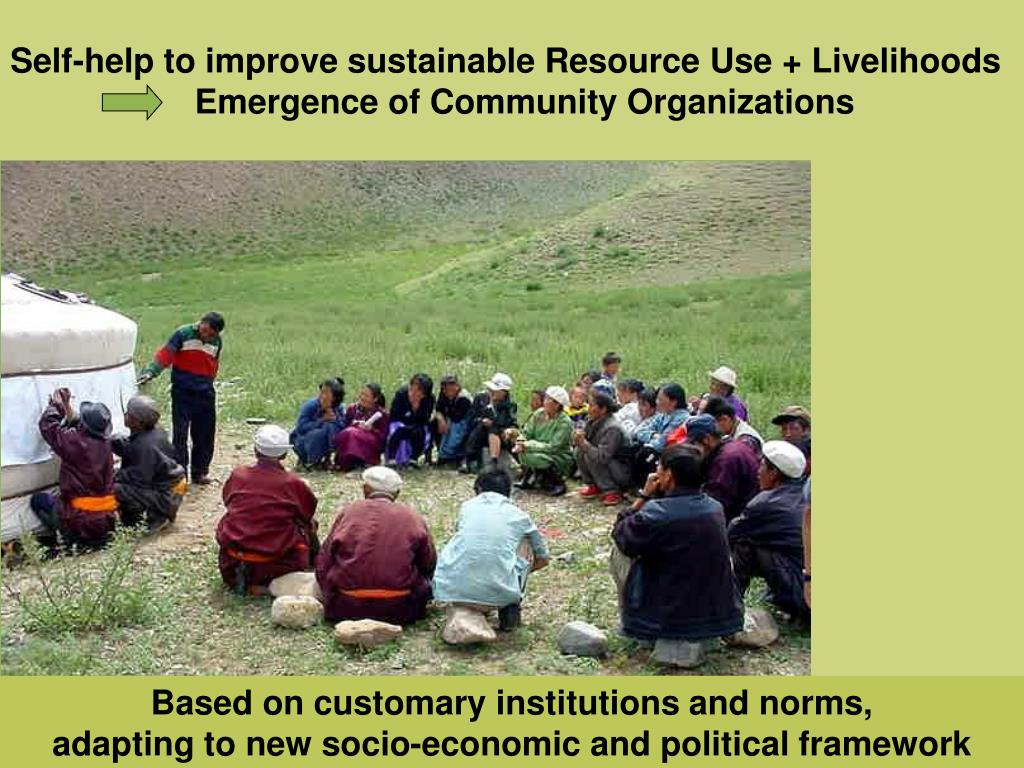 Self-help to improve sustainable Resource Use + Livelihoods