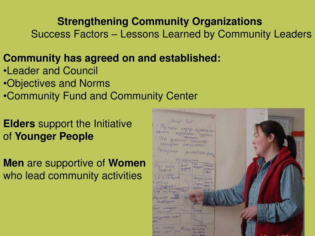 Strengthening Community Organizations