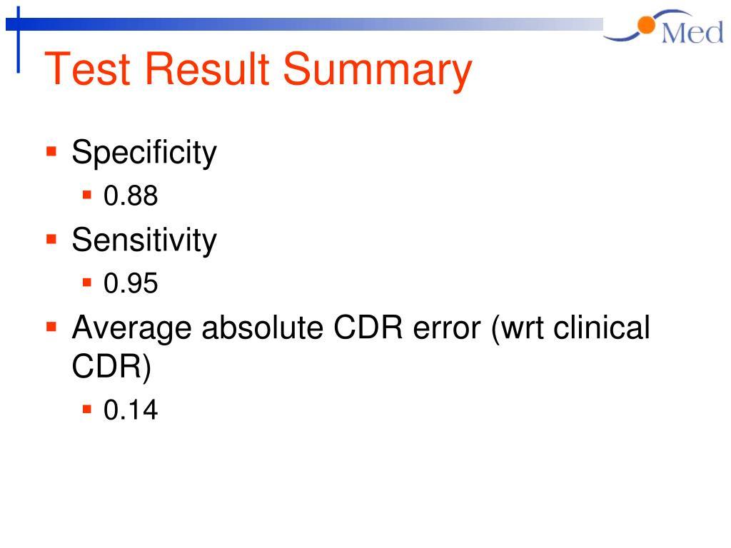 Test Result Summary