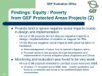 findings equity poverty from gef protected areas projects 2