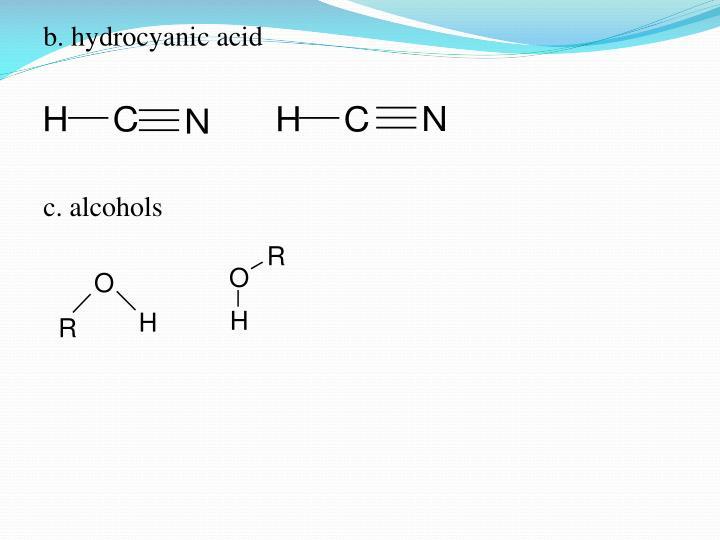b. hydrocyanic acid