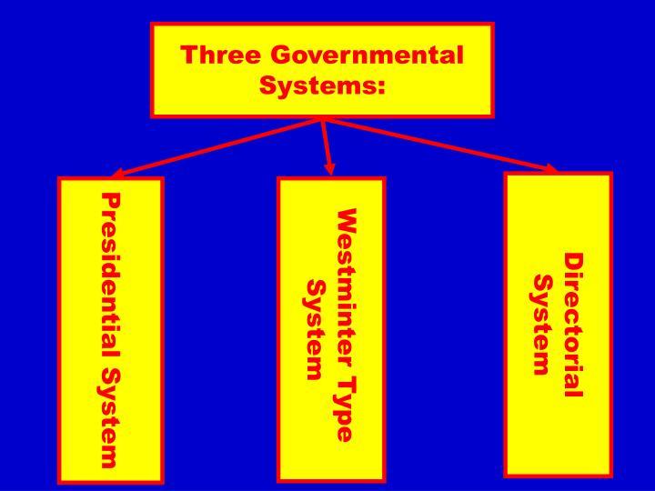 Three Governmental