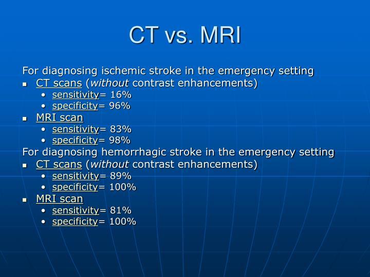 CT vs. MRI