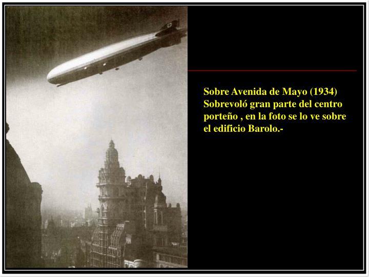Sobre Avenida de Mayo (1934)