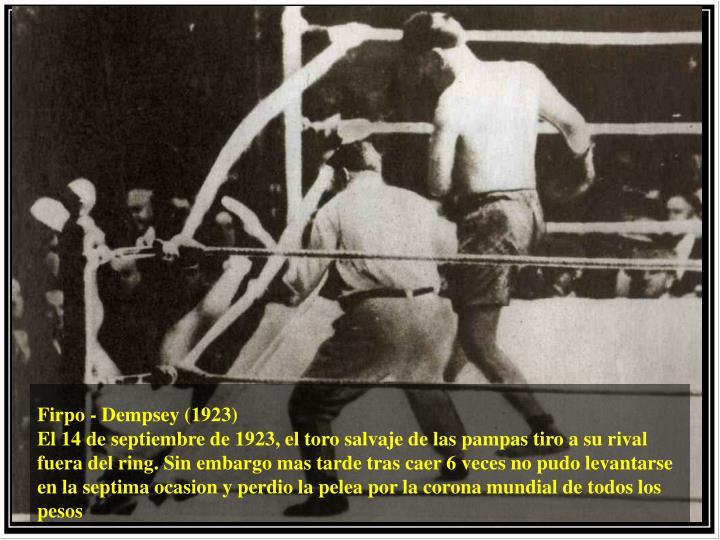 Firpo - Dempsey (1923)