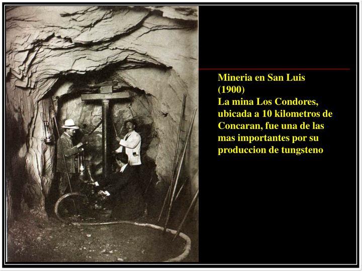 Mineria en San Luis (1900)