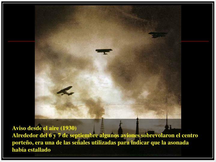 Aviso desde el aire (1930)