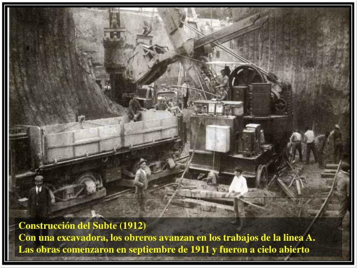 Construcción del Subte (1912)