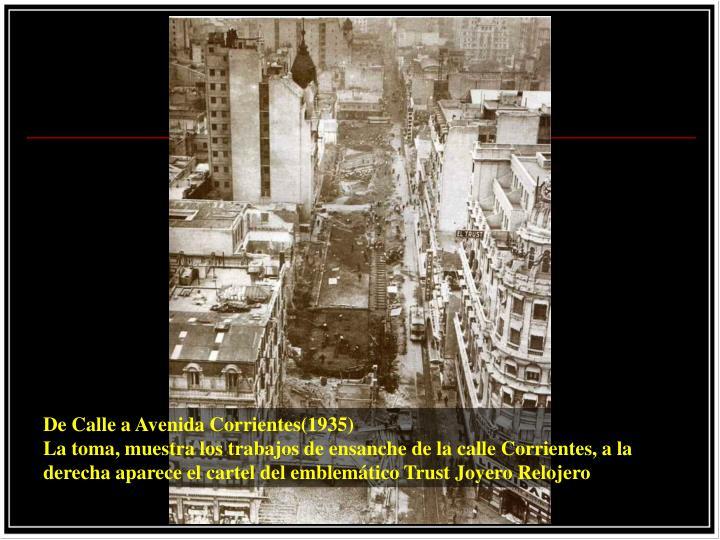De Calle a Avenida Corrientes(1935)