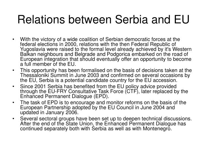 Relations between Serbia and EU