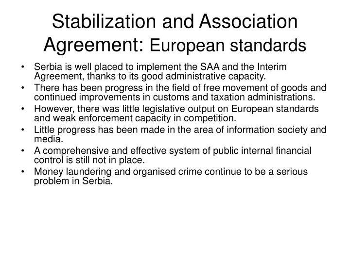 Stabilization and Association Agreement: