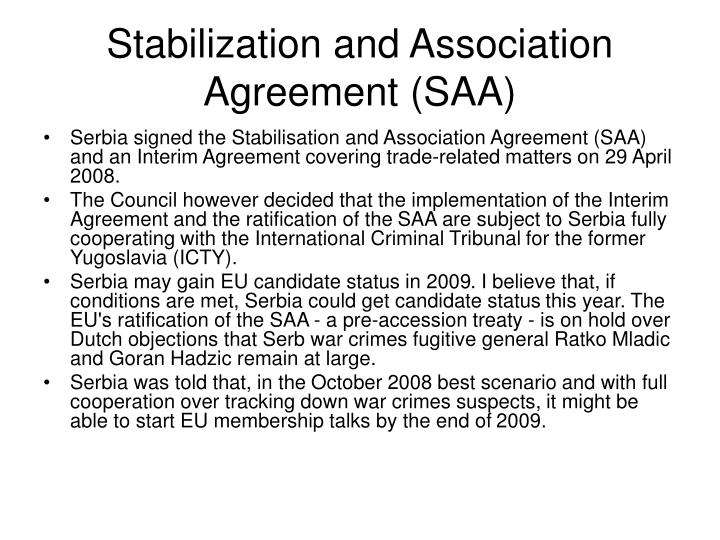 Stabilization and Association Agreement (SAA)