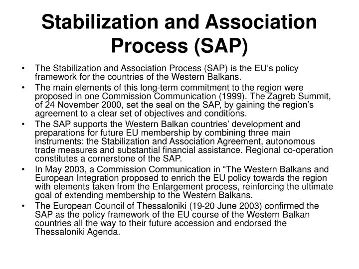 Stabilization and Association Process (SAP)