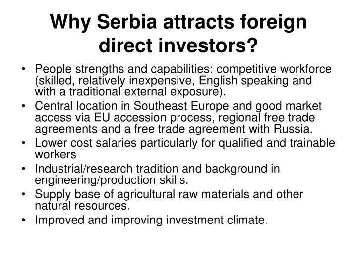 Why Serbia attract