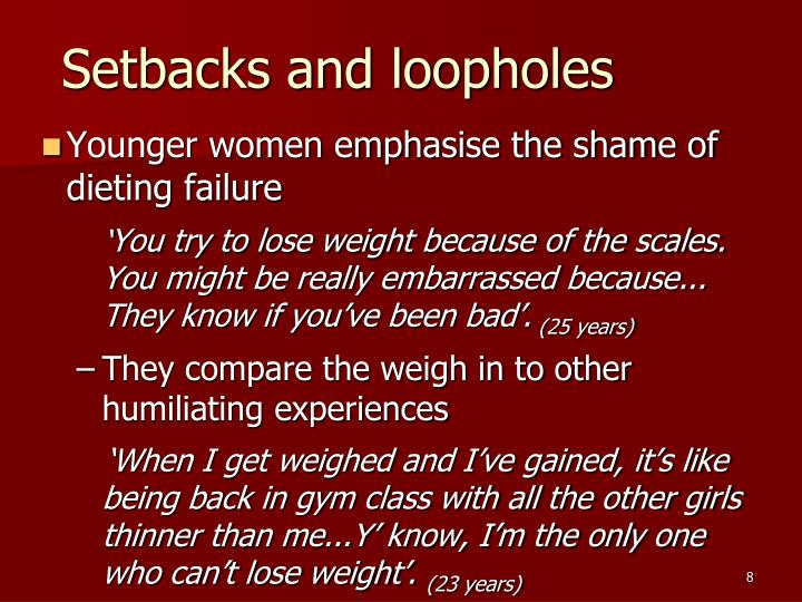 Setbacks and loopholes