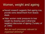 women weight and ageing