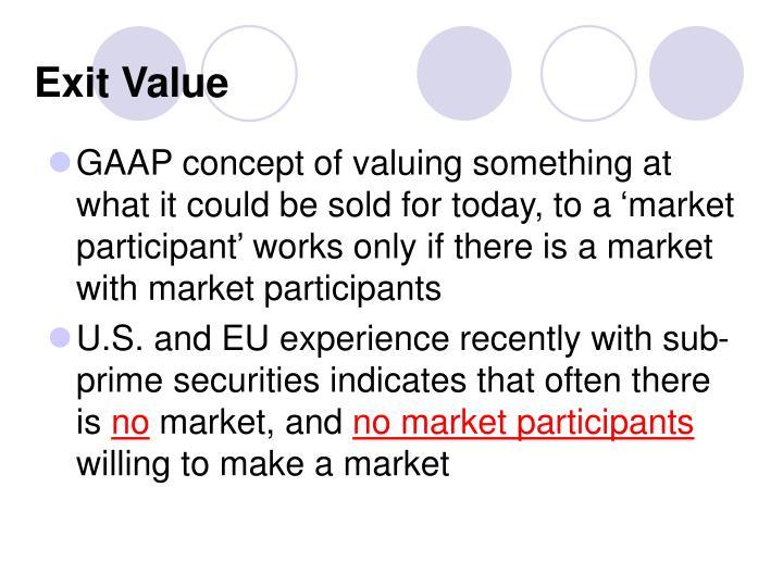 Exit Value