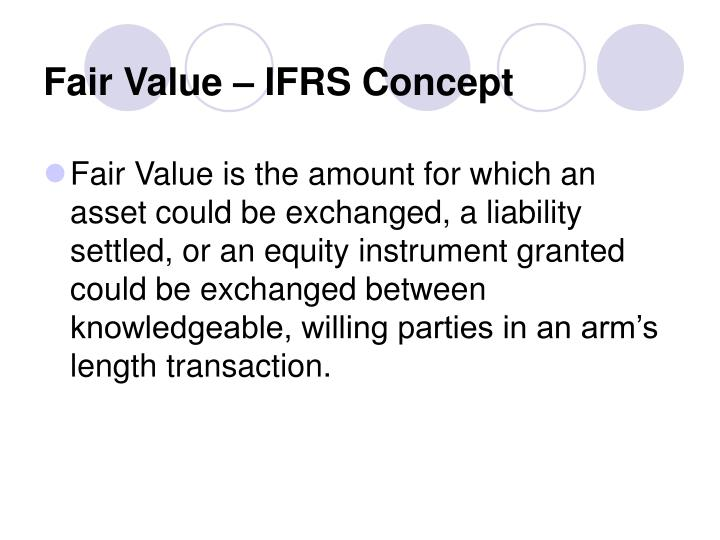 Fair Value – IFRS Concept