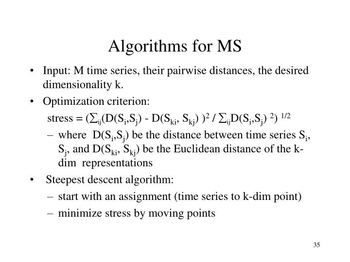 Algorithms for MS