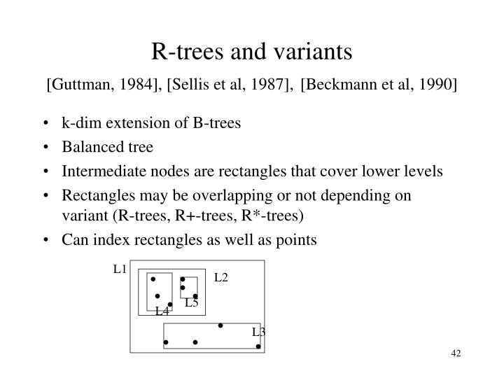 R-trees and variants