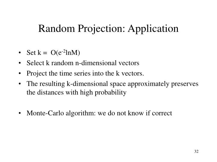 Random Projection: Application