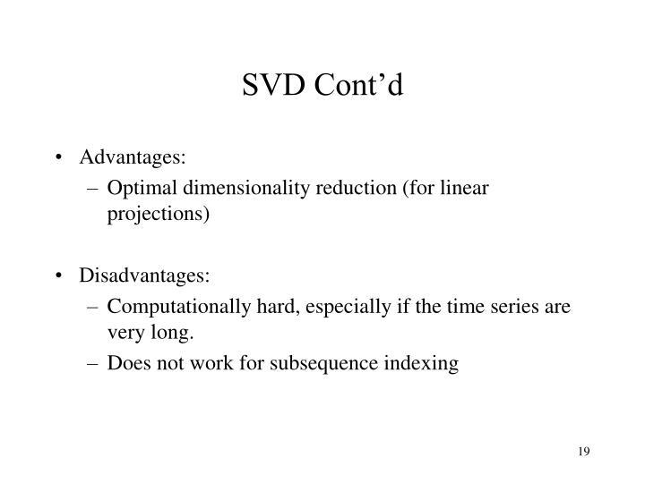 SVD Cont'd