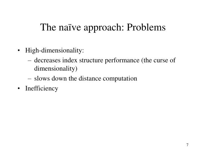 The naïve approach: Problems