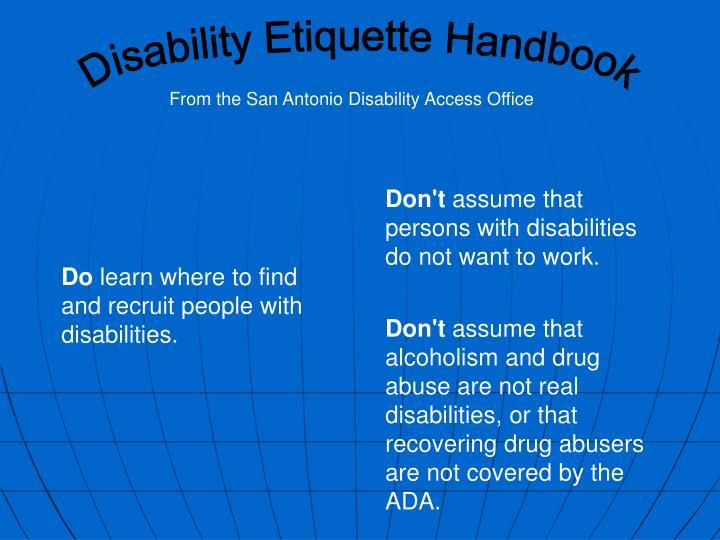Disability Etiquette Handbook