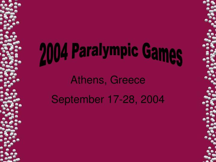 2004 Paralympic Games