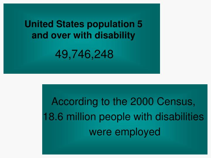United states population 5 and over with disability