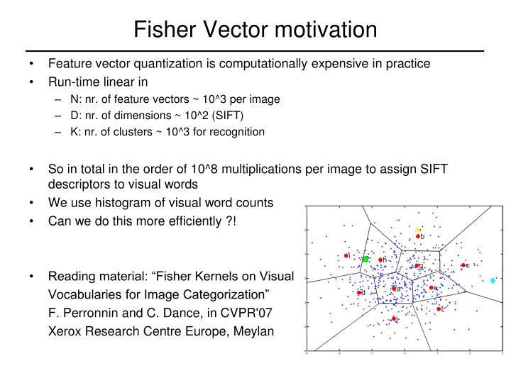 Fisher Vector motivation