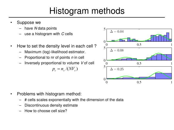 Histogram methods