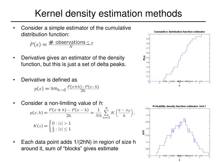 Kernel density estimation methods