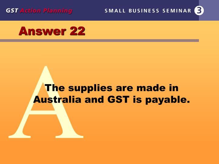 Answer 22