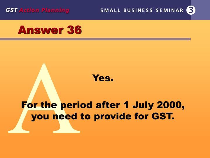Answer 36
