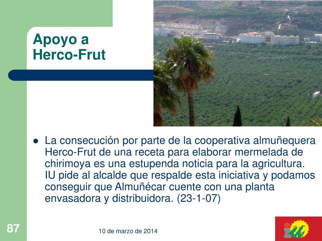Apoyo a Herco-Frut