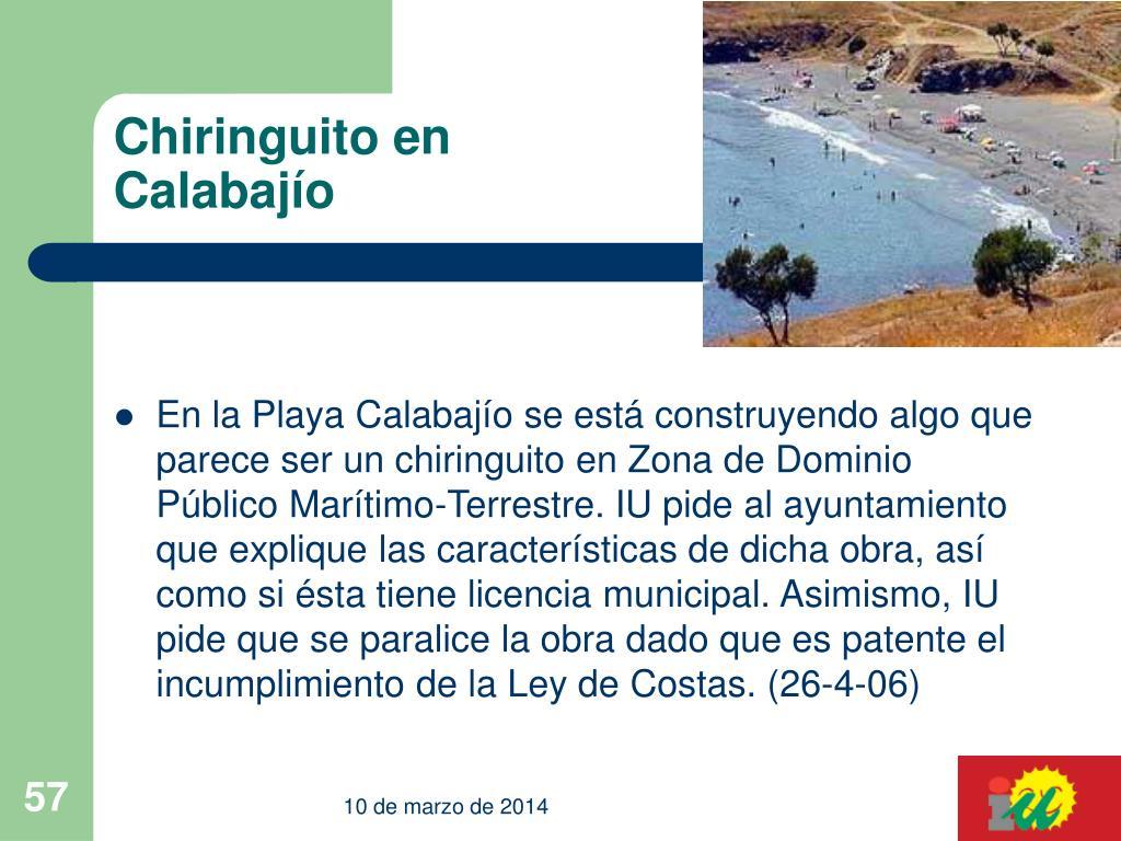 Chiringuito en Calabajío