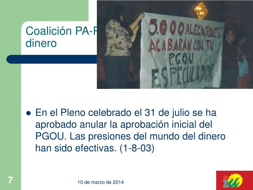 Coalición PA-PP-dinero