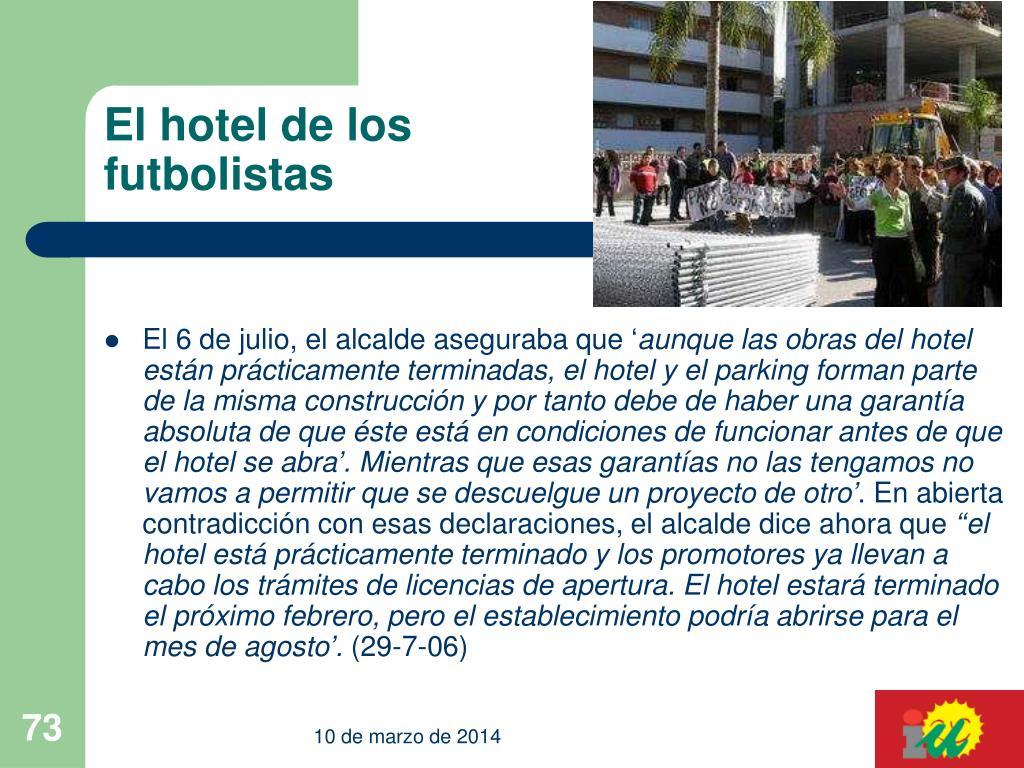 El hotel de los futbolistas