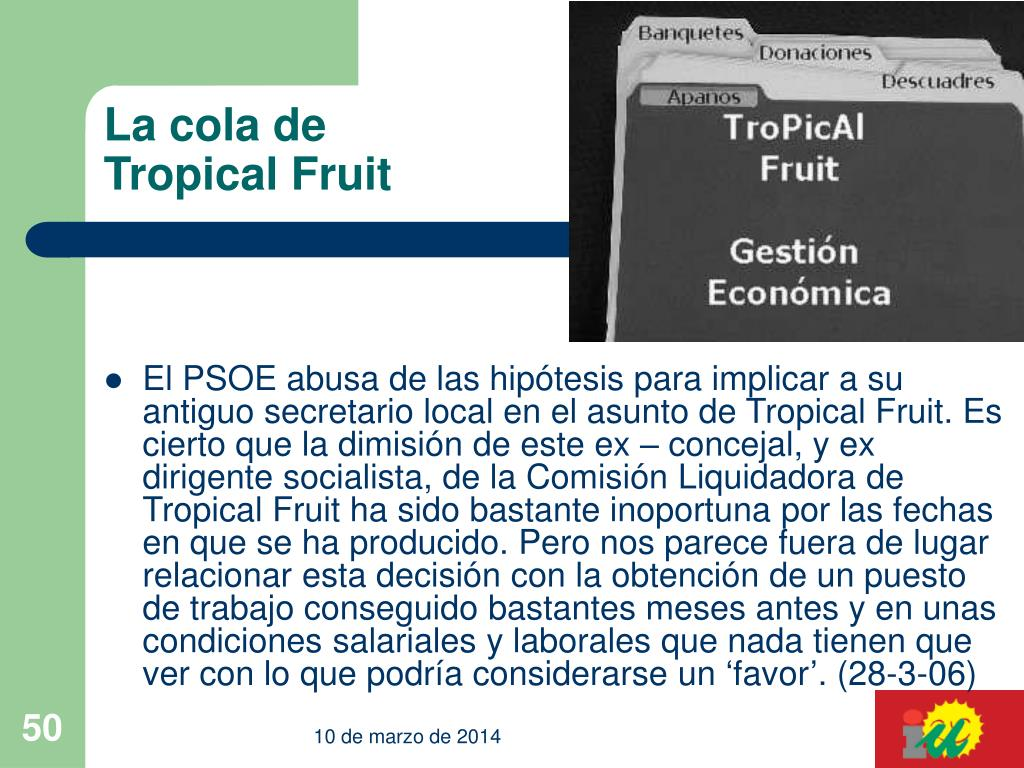 La cola de Tropical Fruit