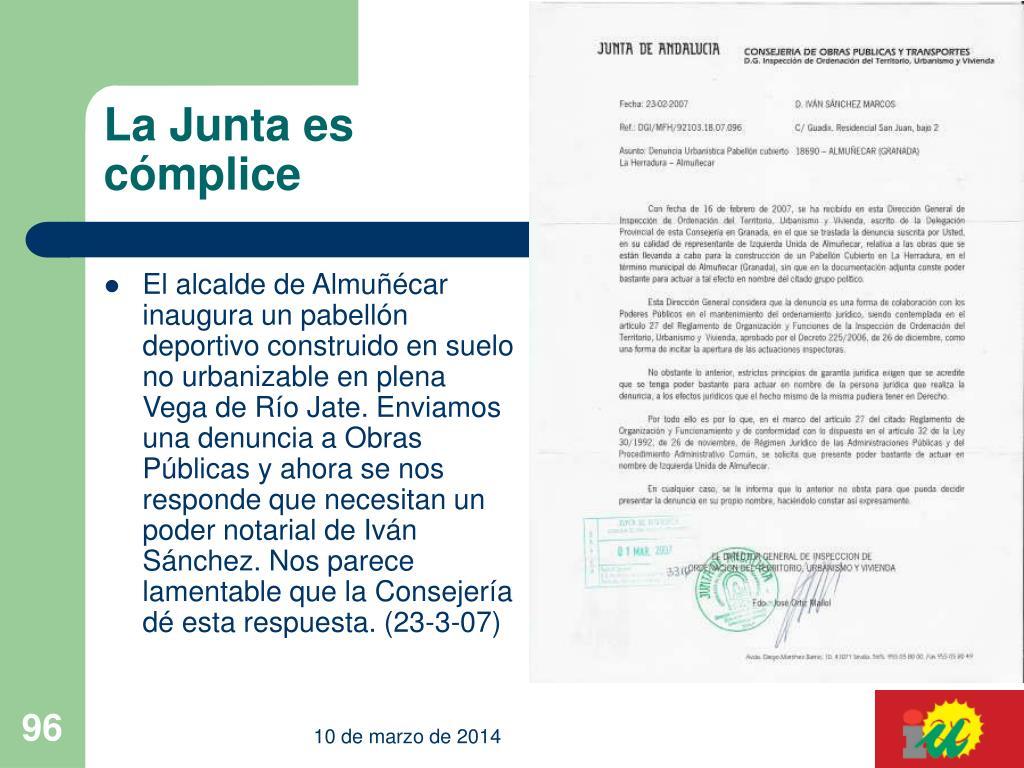 La Junta es cómplice