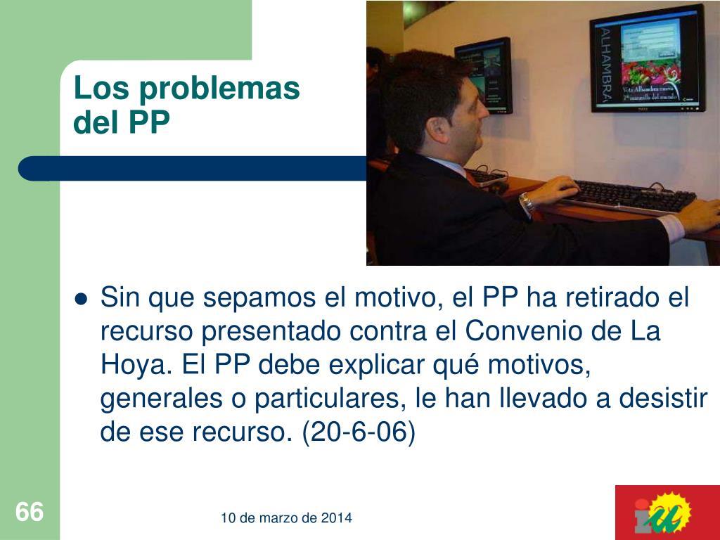 Los problemas del PP