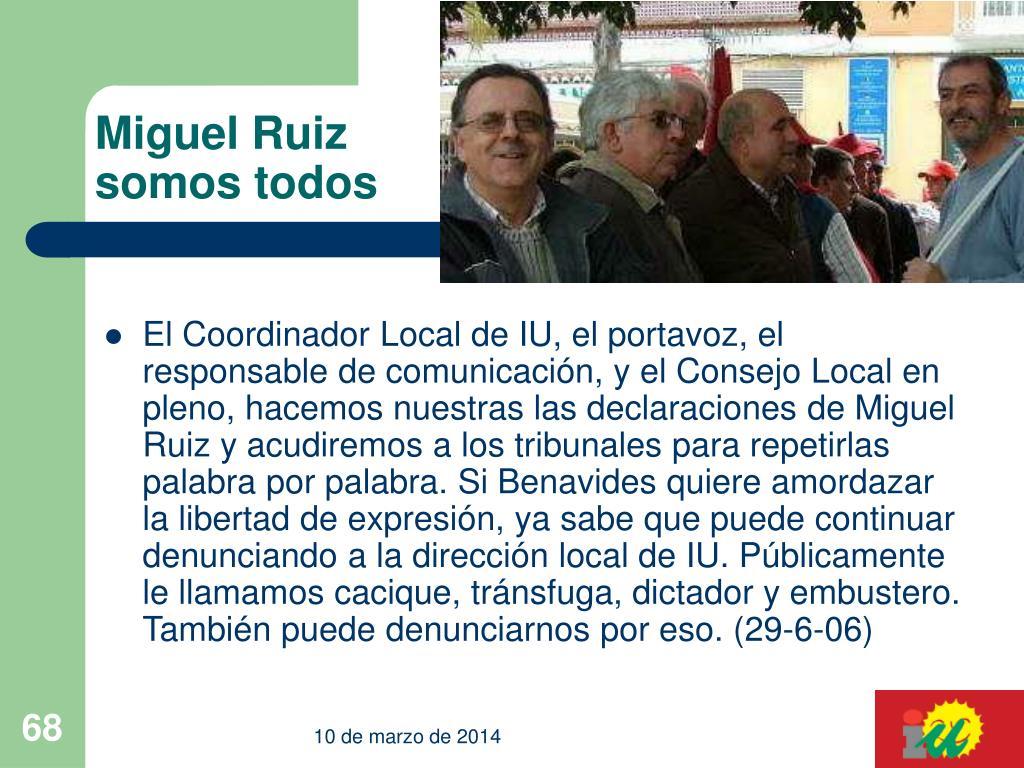 Miguel Ruiz somos todos