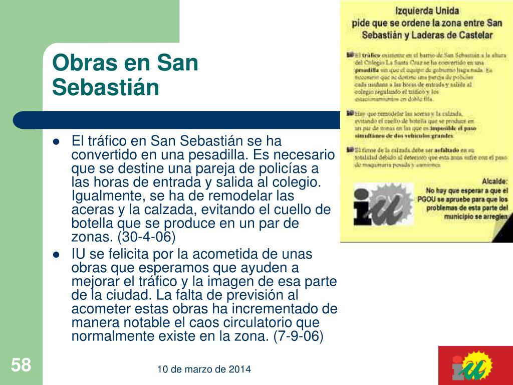 Obras en San Sebastián