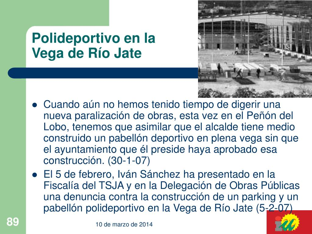 Polideportivo en la Vega de Río Jate