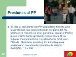 presiones al pp