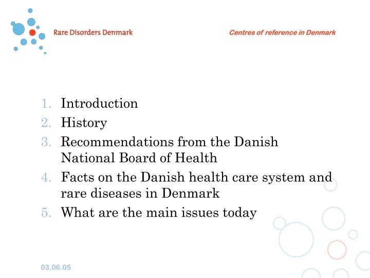 Centres of reference in Denmark