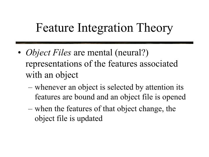 Feature integration theory1