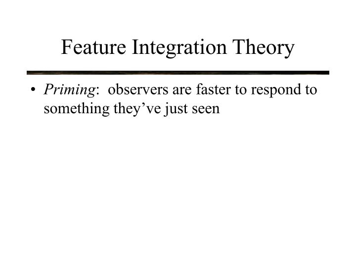 Feature Integration Theory